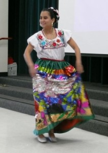 Me performing as the China Poblana in 2008.